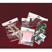 Wholesale Price Clear Plastic OPP Packaging Header Bag with Hanging Hole for Jewerly