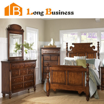 Lb Hs4004 Antique Solid Wood Bedroom Furniture With Mirror
