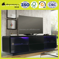 Modern High Gloss Matt tv cabinet color combinations Unit Stand black RGB LED Light Home Furniture 160cm