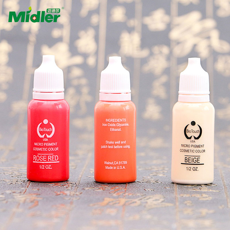 Midler Wholesale Natural Tattoo Ink Brands Permanent Eyebrow Makeup Pigment