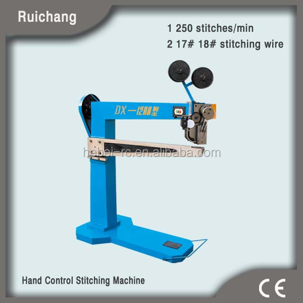 MJDX-3 Semi-automatic paperboard stitcher, electric stapler machine for carton