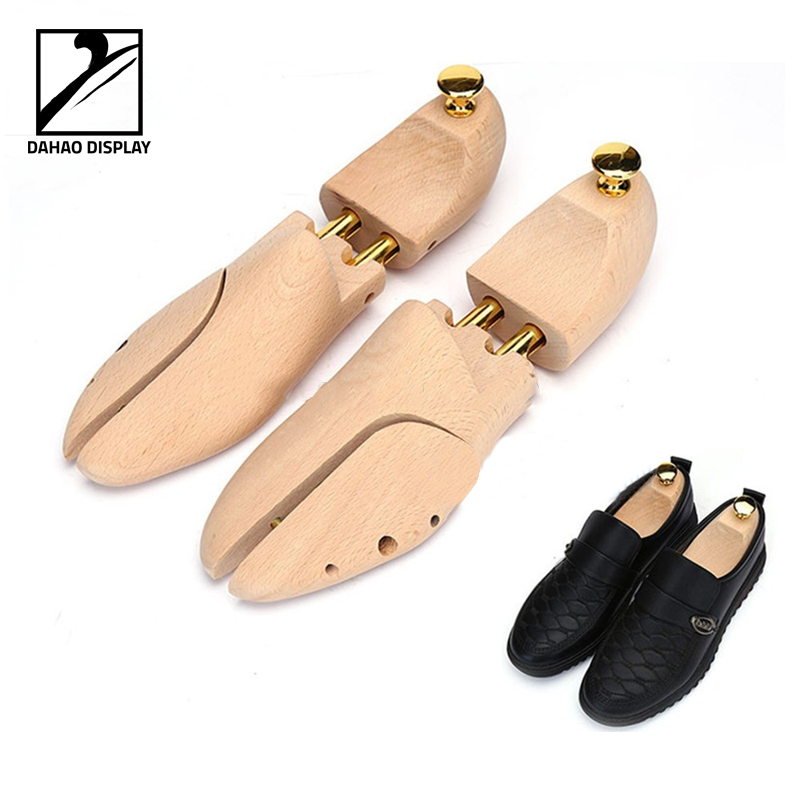 luxury beech wooden shoe tree branded display shoe last