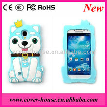 Browny cellphone case 3D Cute dog silicone case for Samsung galaxy S4 I9500