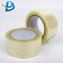 custom logo printed carton sealing bopp tape single sided crystal clear packing tape