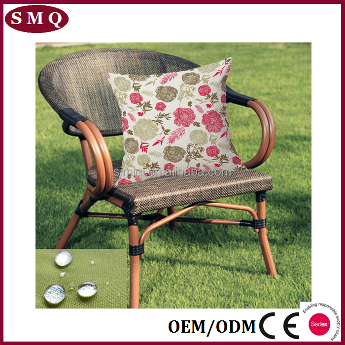 custom print hanging rattan chair outdoor cushion waterproof cushion cover