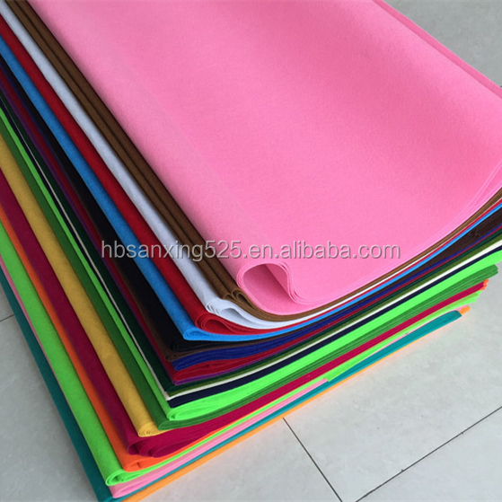 Wholesale good quality colorful wool mix with fiber felt