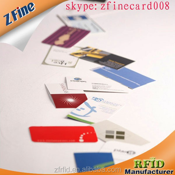 factory sell classic 1k business card bar code RFID card