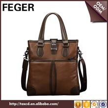 China FEGER Cow Leather Design Handbag Mens Manufacturer