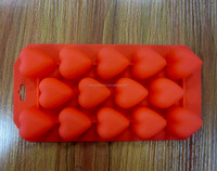 BPA-free Heart Shaped Silicone Ice Cube Tray