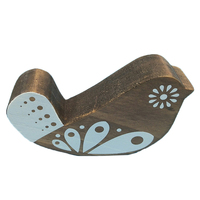 Natural Wood Cute Bird Indoor Decoration