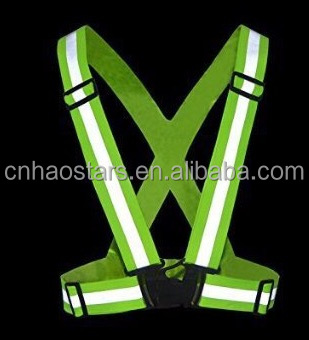 elastic reflective vest for running and riding safety
