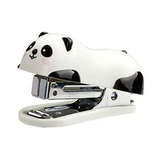 Fashion Cute Panda Office Student Desktop Small Mini School Home Paper Document Stapler Book sewing Tool Hand Stapler