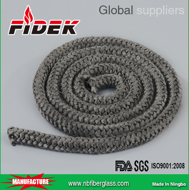 Heat-Resistant Texturized E-glass Fiberglass Knitted Rope for stove sealing