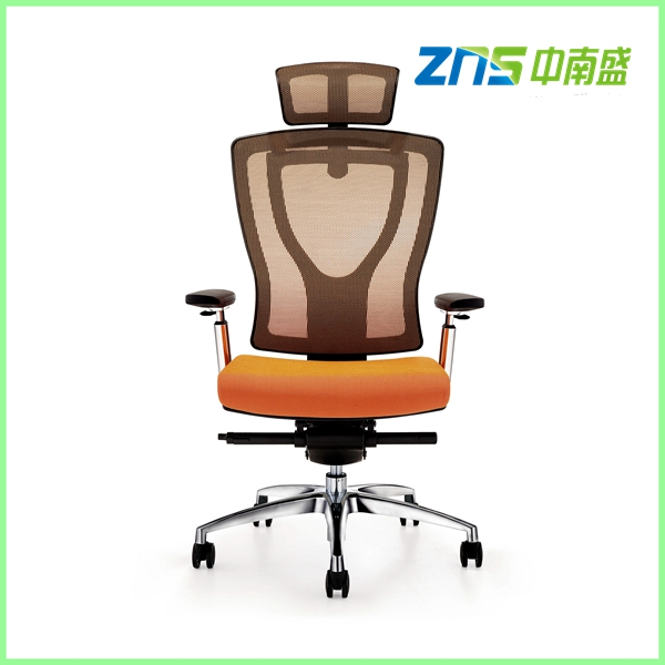 ZNS 938AL fashional mechanism swivel mesh office chair with footrest