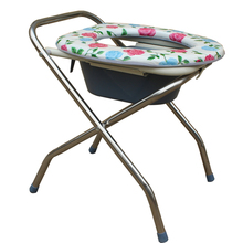 Special Selling simple folding steel frame commode chair with castor