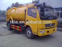 Advanced Dongfeng Duolika 4x2 vacuum sewer cleaning truck