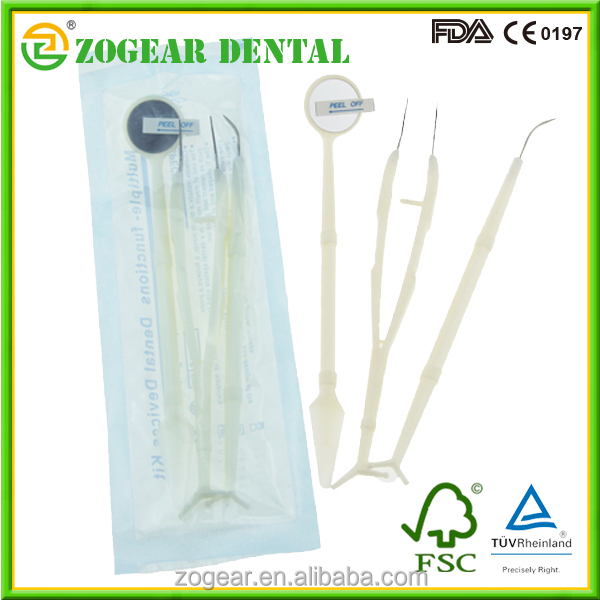 TA021-2 ZOGEAR Disposable plastic dental instrument kits
