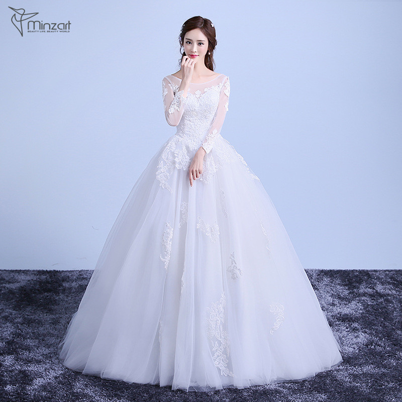 Minzart WD-DB0347 Hot sale wedding dress bridal gown China guangzhou latest wedding gown designs fish cut gown
