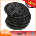 RENJIA silicone coaster with logo printed cup coaster for wholesale heat sensitive coaster