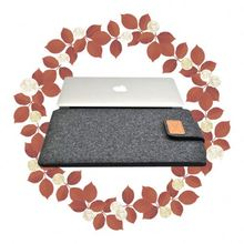 Fashionable denim magnetic buckle PC 16inch wheeled laptop case for new ipad