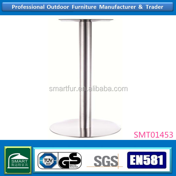 Brushed stainless steel table bases or legs for dining&Restaurant table desk