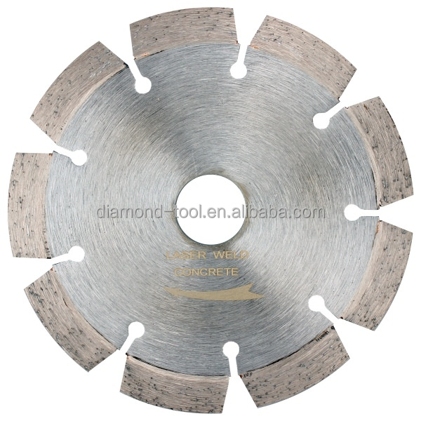 Guangzhou competitive price 5 inch 125mm fast cutting laser welding diamond cutting disc for wet cutting concrete