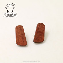 Fashion oblong shaped wooden Earring manufacturer price