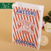 Flat Bottom Paper Bag For Popcorn Packing