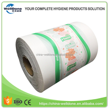 Manufacturer Supply Jumbo Roll Baby Diaper Backsheet Raw Materials PE Film