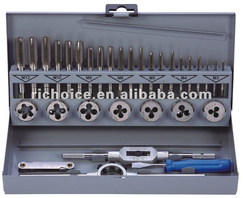 32pcs Metric tap and die set