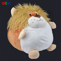 Custom lovely stuffed animals lion dog plush ball toy