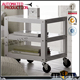 decorative slotted steel shelves angle iron shelf Movable Warehouse Rack with Wheels