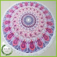 2015 Australia Popular 100% Cotton Round Towel Beach Softtextile