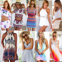 Womens Playsuit Shorts 2016 Ladies Summer Holiday Dress Clothes Beach