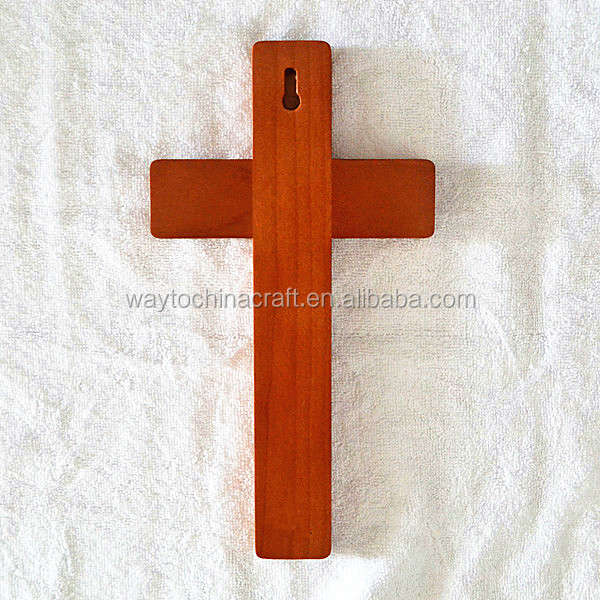 High quality solid wooden cross, wood crosses for sale
