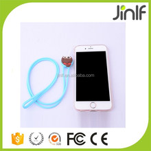 Cute cartoon shape silicone mobile phone neck strap/silicone Mobile phone lanyard/silicone mobile phone straps