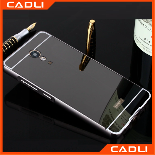 Electroplate mirror hard filp phone case metal mirror phone case for lenovo P2