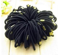 Godbead Stretchy ponytail holders black elastic hair bands with buckle 100pieces/lot