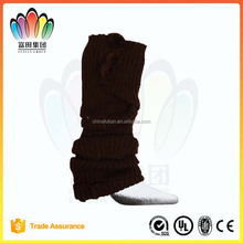 FT FASHION Winter Plain Knitted Leg Warmers,Boot Socks,Leg Protection with fluffy Balls