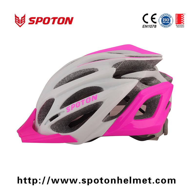 Colorful womens Bicycle Helmet Visor / Enduro Mountain Bike Helmet 23 Vent Holes