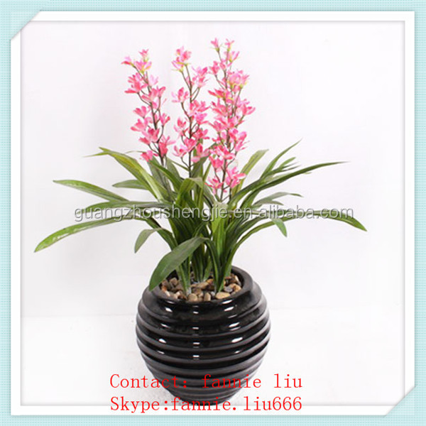 LF091528-100cm artificial red orchid plants /artificial small potted plant/fashion artificial plant