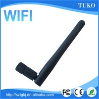 Portable omni external 3dbi foldable wifi antenna rubber duck 2.4Ghz antenna with sma connector