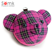 Cheap aluminum rose red hard plastic polyester fancy animal bear shape cd dvd case
