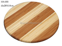 Zebra Round Vegetable and Fruit Bamboo Cutting Board