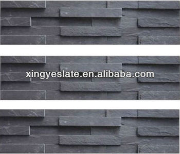 15x60 Exterior Wall Cladding Black Slate Buy Exterior Wall Cladding Black S