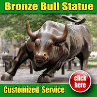 Reproduction for Famous bull sculpture wall street nyc for Garden Decoration