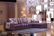 Modern Soft L Shape Italian design Fabric chesterfield Sofas