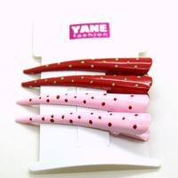 Cute candy color metal alligator hair clips