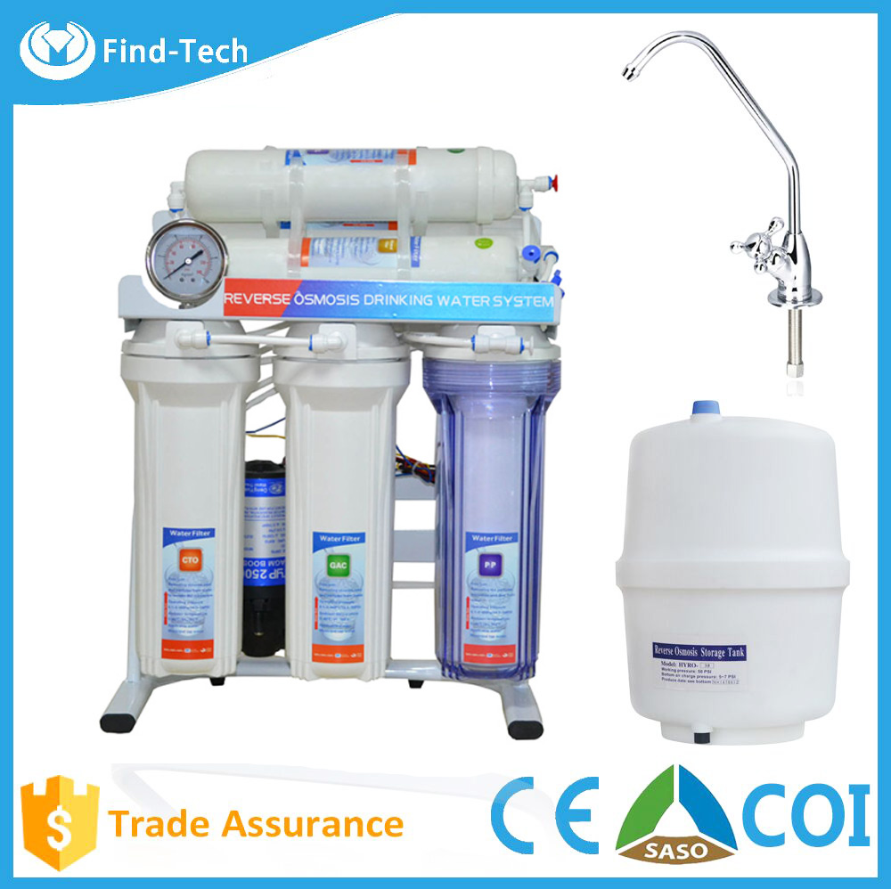 China best quality home pure ro system 7 stage mineral alkaline water filter dispenser