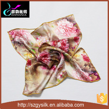 floral pattern digital print turkish silk scarf